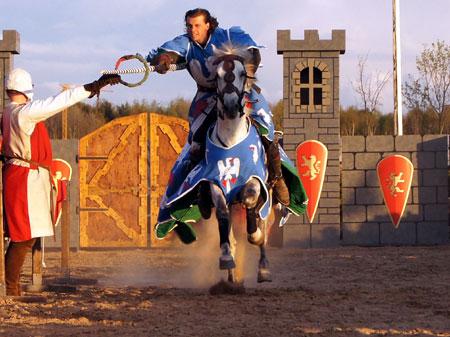 "Maximilian Ritterspiele in Horb  Copyright © Horse Stunt Team ""Haraldos"""